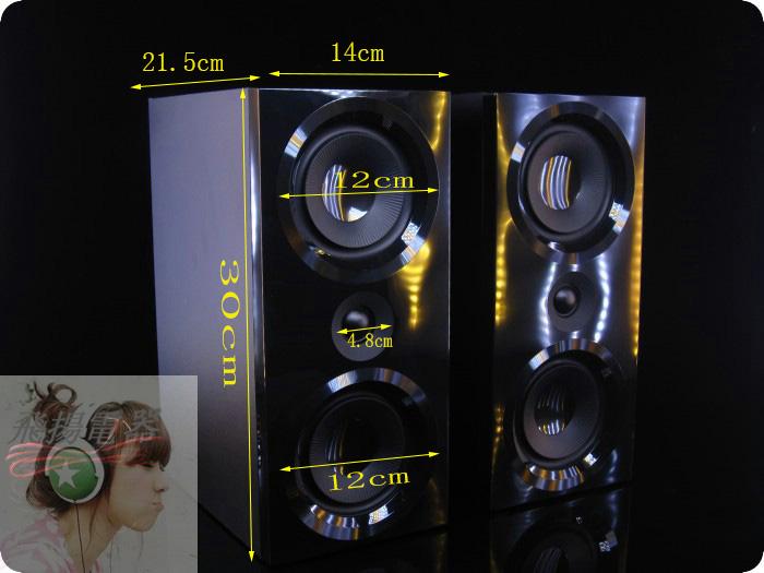 二手闲置飞利铺无源音响4寸HIFI全频喇叭双低音2.0木质书架对箱