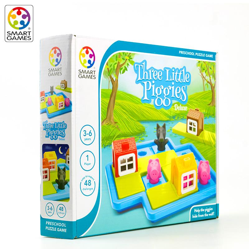 大J小D推荐比利时Smart games益智解密桌游 童话系列三只小猪3岁+
