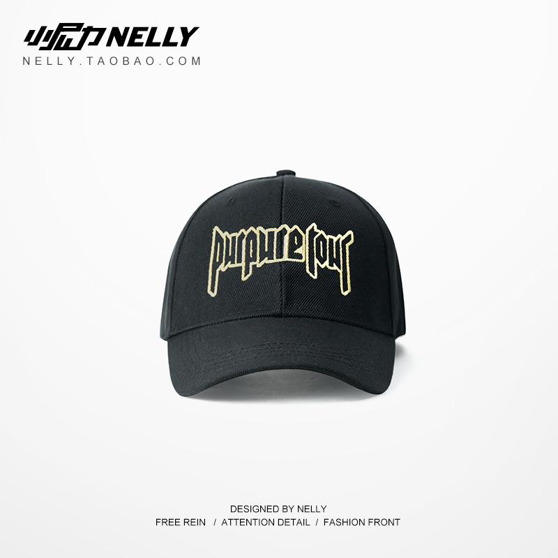高街暗黑潮牌帽子 BF 同款 R 男女弯檐帽迷彩棒球帽潮牌 vintage 复古