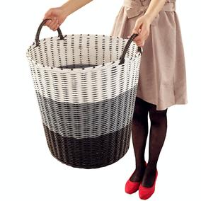 脏衣篮编织塑料洗衣筐卫生间特大号衣篓换洗脏衣服收纳筐篮玩具筐