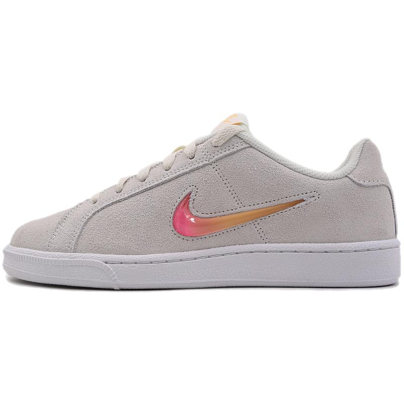 Nike耐克女鞋2019冬季新款翻毛皮粉色果冻勾轻便休闲鞋板鞋AJ7731