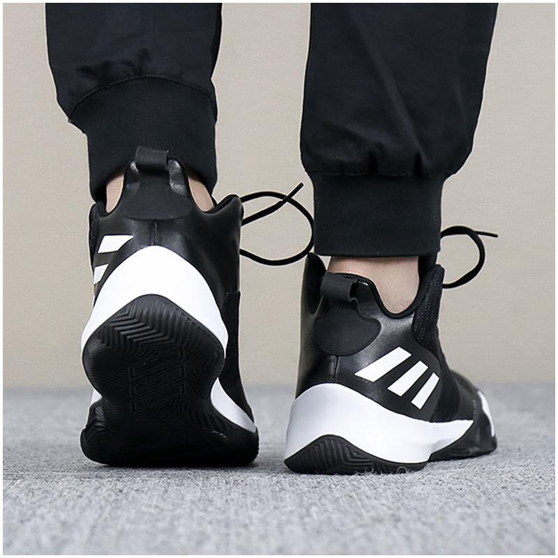 阿迪达斯男鞋2019新款运动低帮透气战靴球鞋实战场上篮球鞋CQ0427