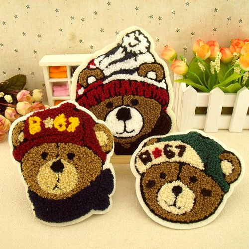 小熊毛巾绣