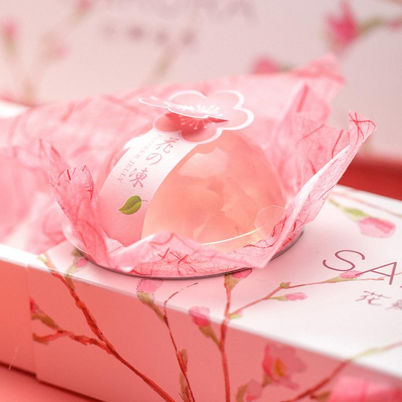 樱花味果冻日式水信玄饼玫瑰布丁,30元左右表白女朋友小礼物