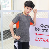 Boys quick dry T-shirt children's quick dry clothes short sleeves 2019 summer new 8 medium-sized children's half-sleeve boys sweatshirt tide