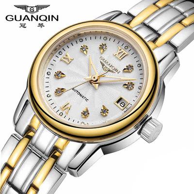 瑞士正品 超薄手表女机械表 时尚潮流夜光防水钢带手表女款休闲表新品特惠