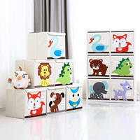 Qianhe Huike Foldable Clothing Children's Toys Storage Box Oxford Cloth Covered Extra Large Storage Box Kindergarten