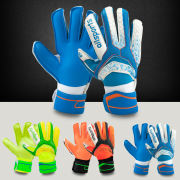 Football goalkeeper gloves with fingertips adult children full latex thickening skid football training