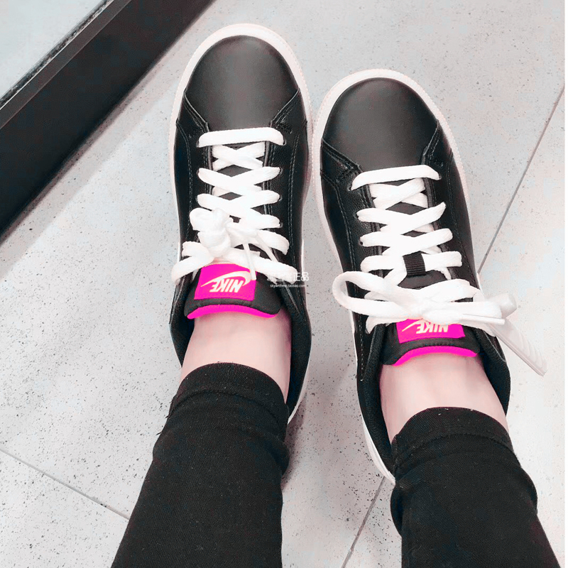 耐克女鞋NIKE COURT MAJESTIC 开拓者休闲复古板鞋黑白454256-017