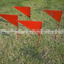 铅球投掷远度插旗 标枪 铁饼 链球插牌 三角形小铁旗 田径用品