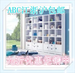 宜家特价简易书柜自由组合柜书架带门展示柜储物柜格子柜