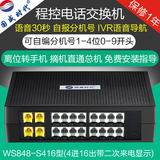 Kwok program-controlled telephone exchange 124 into 4816 HOLDINGS internal telephone switchboard 8 16