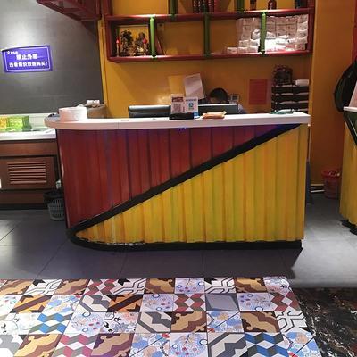 咖啡台吧台式餐桌客厅吧台 简约现代窄桌子吧台餐桌一体家用折叠