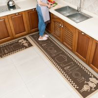Kitchen mats long strips of water and oil resistant and dirty household carpets can be machine washable non-slip wear-resistant door bedroom mats