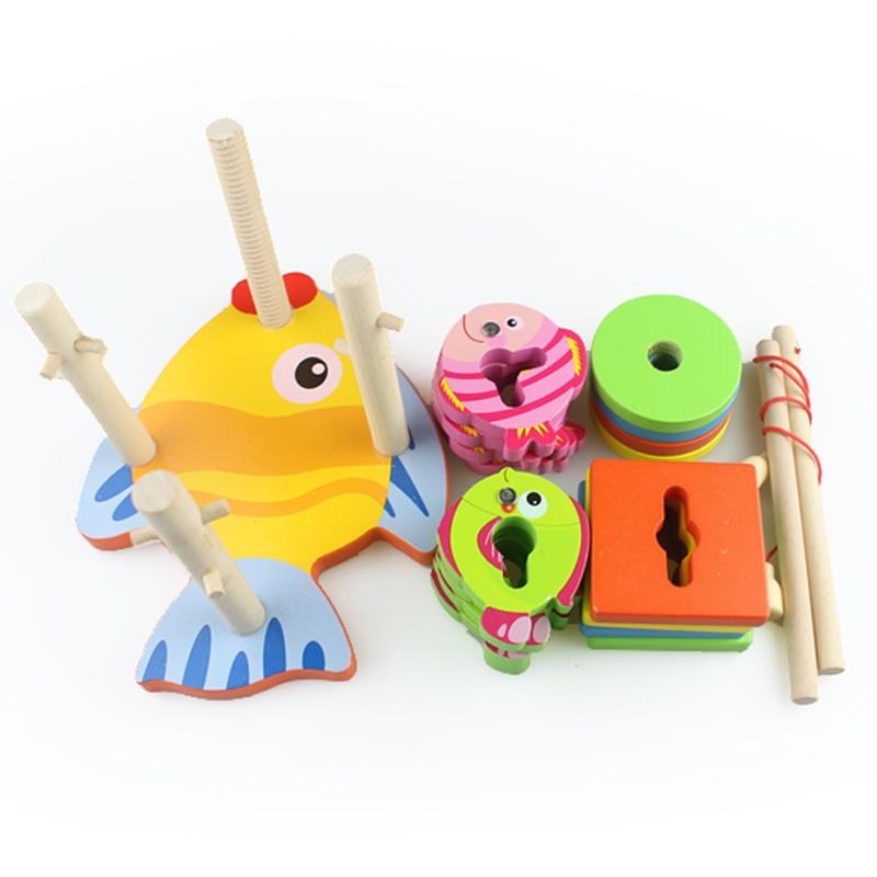 蒙氏早教益智玩具几何形状配对认知颜色分类宝宝1-3岁套柱积木