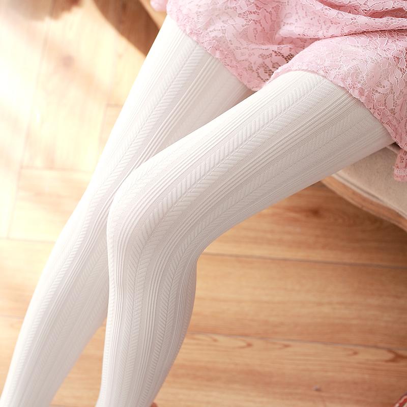 麦穗条纹连裤袜