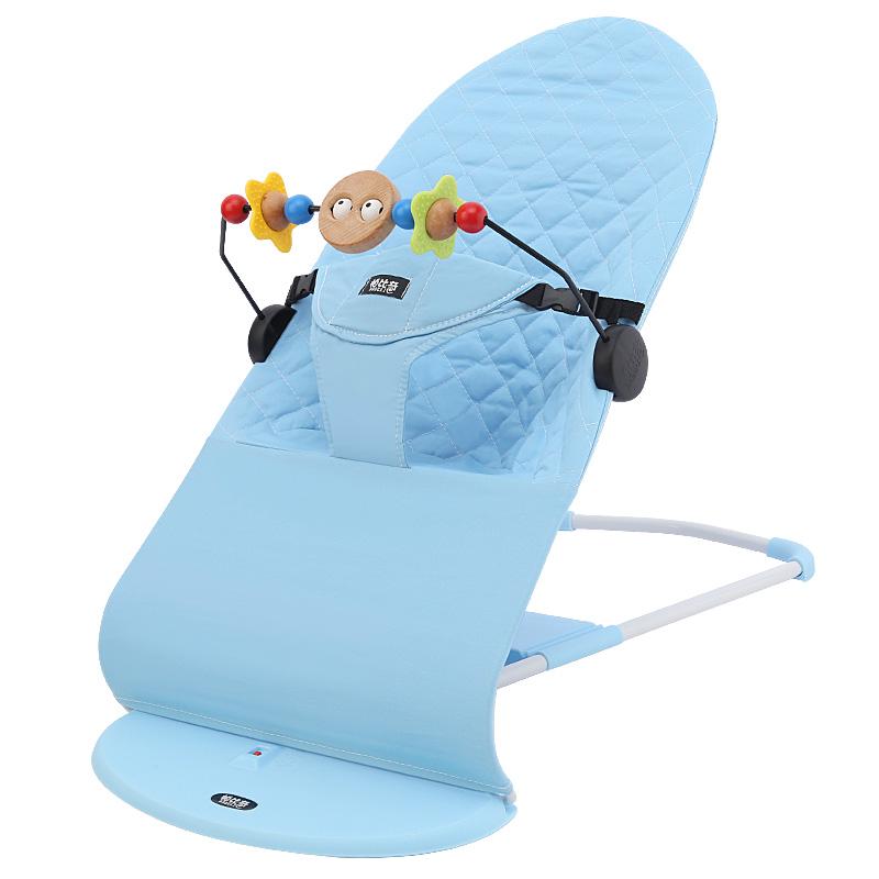 帕比奇哄娃神器冬季加厚保暖款婴儿摇椅宝宝哄睡躺椅加棉摇篮哄宝
