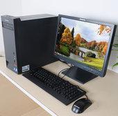 双核四核黑色电脑 联想台式电脑整机 intel主机液晶键鼠全套图片