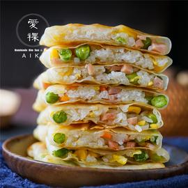 爱稞玉米饼速冻儿童早餐食品青豆糯米饭缸豆饼早饭冷冻面饼煎饼图片