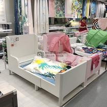 宜家IKEA布松纳可加长型儿童床伸缩公主床实木床学生床宝宝房间床