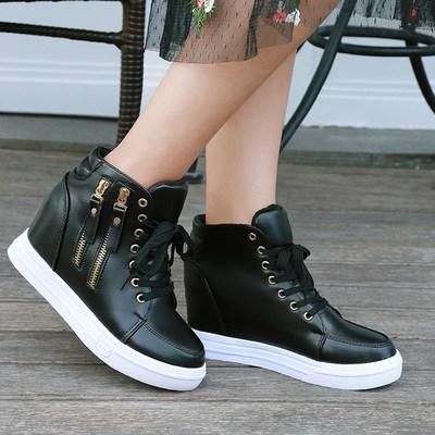 夏季女鞋休闲内增高白色鞋子女百搭韩版潮鞋板鞋中邦透气防滑显瘦