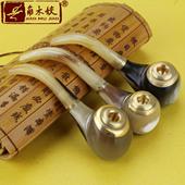 高原牦牛角烟斗弯式老式纯天然牛角烟斗烟嘴手工两用烟斗男士小号