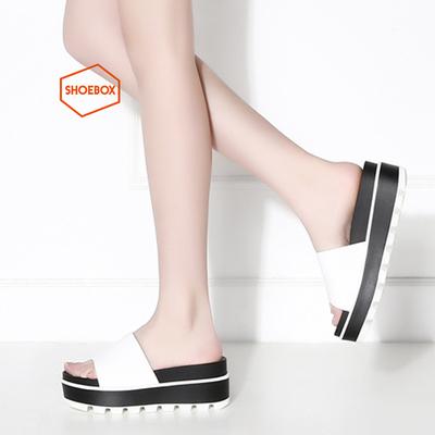 shoebox/鞋柜正品松糕底舒适休闲简单女凉鞋1116303307