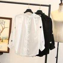 240斤大码女装韩版小清新显瘦灯笼袖衬衫200斤180/150胖mm胸围130