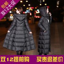 棉衣女超长款过膝羽绒棉服冬新款韩版加厚修身显瘦中长款大码外套