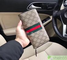 2019新款G家男士欧美时尚简约拉链钱包长款对开大容量PVC耐磨包邮