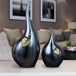 摆件家居饰品北欧创意现代简约软室内装饰品抽象设客厅酒柜摆设