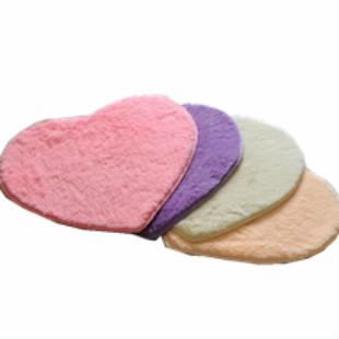 浪漫桃心形超柔丝毛纤维地垫门垫脚垫地毯 防滑垫 婚房地毯最新最全资讯
