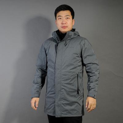 哥伦比亚三合一冲锋衣2018冬季户外男款羽绒胆中长款两件套PM5597