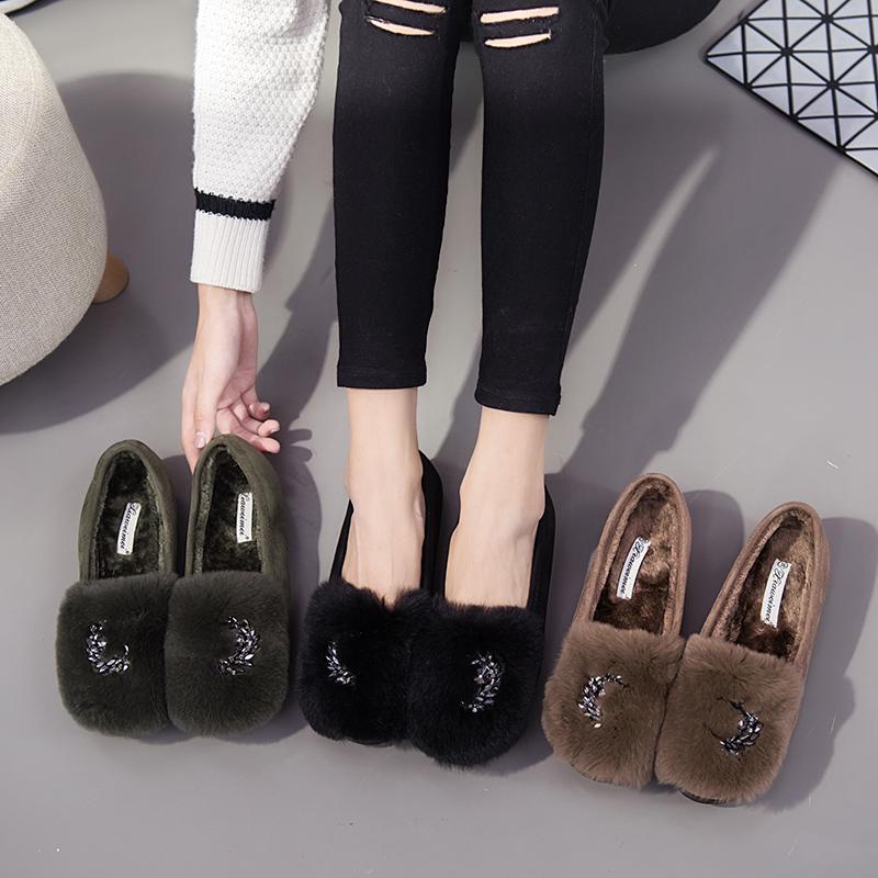 冬季兔毛毛鞋