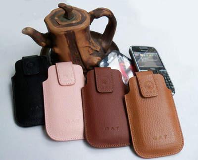 包邮:三星 I509 皮套 奢华款真皮拉绳套 手机保护套