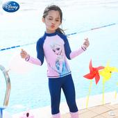防晒冲浪服 迪士尼儿童泳衣女分体宝宝女童泳衣女孩中大童长袖 长裤图片