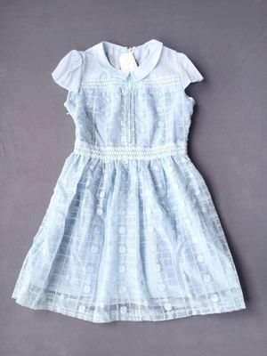 金苑正品夏秋季新品纯色气质甜美蕾丝短袖连衣裙收腰显瘦62106