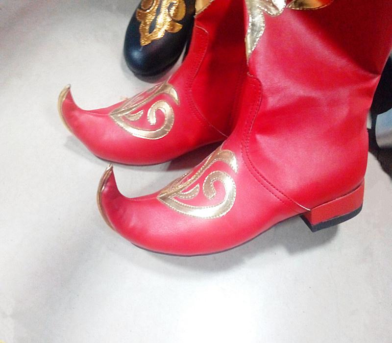 新疆特色舞蹈鞋舞台表演维吾尔族舞鞋女款民族风女鞋