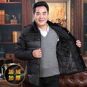 反季中老年男士棉衣冬季加绒加厚中年男装棉服爸爸装冬装休闲外套