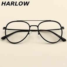 184cabfa7 Doble haz gafas marco hombres y mujeres miopía cara redonda Versión coreana  de la marea retro