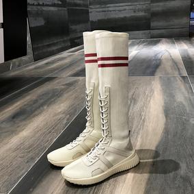 【大斌】 ins超火袜子鞋女透气弹力长筒袜靴学院风休闲运动高帮鞋
