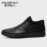 保罗骑士男靴真皮英伦短靴男皮靴潮流冬季新款男靴子男高帮男鞋