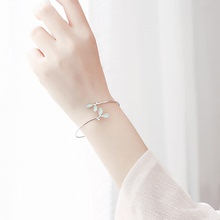 Buy two to give one Sterling Silver Bracelet for girls Simple to give mother, girlfriend jewelry for students with silver bracelets