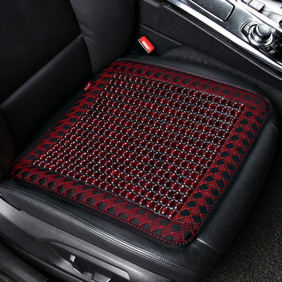 汽车坐垫夏季单片木珠凉垫通用透气椅垫单个夏天珠子座垫四季珠垫