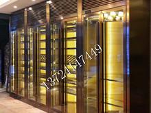 海南玫瑰金欧式不锈钢酒柜 现代简约不锈钢恒温酒柜 三亚酒店