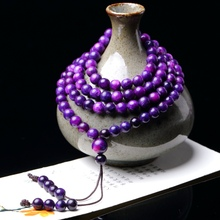 Natural Shubilai Couple Crystal Bracelet with 108 Polycyclic Su Stone Handstrings for Male and Female Buddha Beads and Glossy Necklaces