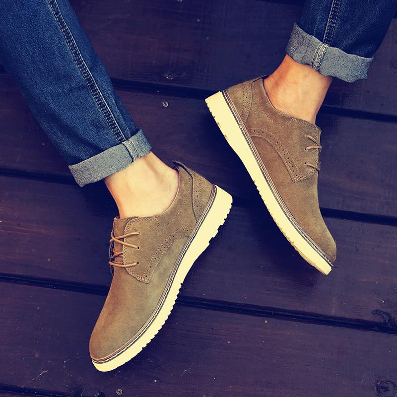 反绒皮英伦板鞋