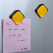 冰箱留言贴 便签贴便利贴 磁铁便条夹纸条夹 磁吸便签夹 日本Komi