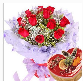汨罗市河市镇屈子祠镇罗江镇白塘镇蛋糕店鲜花店配送生日蛋糕玫瑰