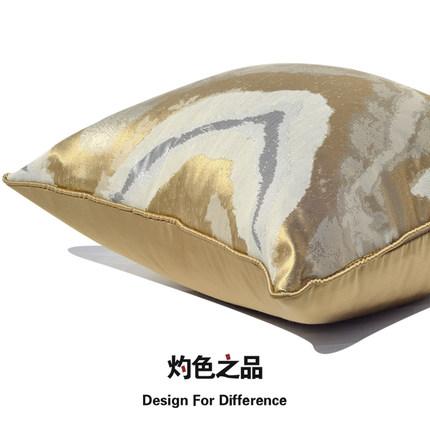现代简约金色美式床头样板间客厅卧室沙发抱枕靠垫靠包靠枕大枕套